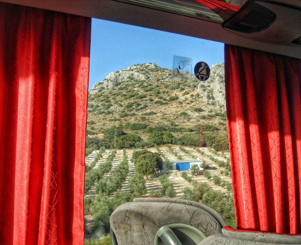 Bus travel from Malaga to Seville