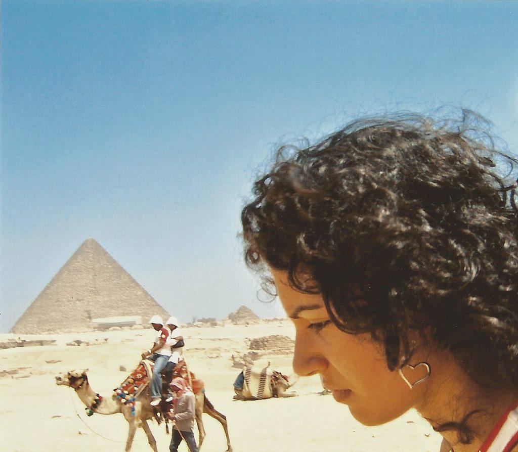 Raya at the Pyramids of Giza