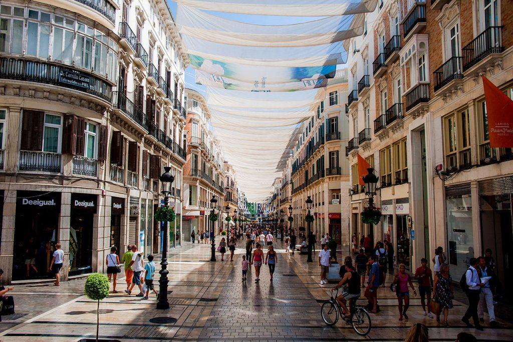 Shopping at Calle Marqués de Larios